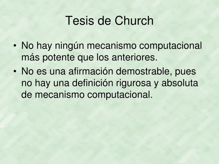 Tesis de Church
