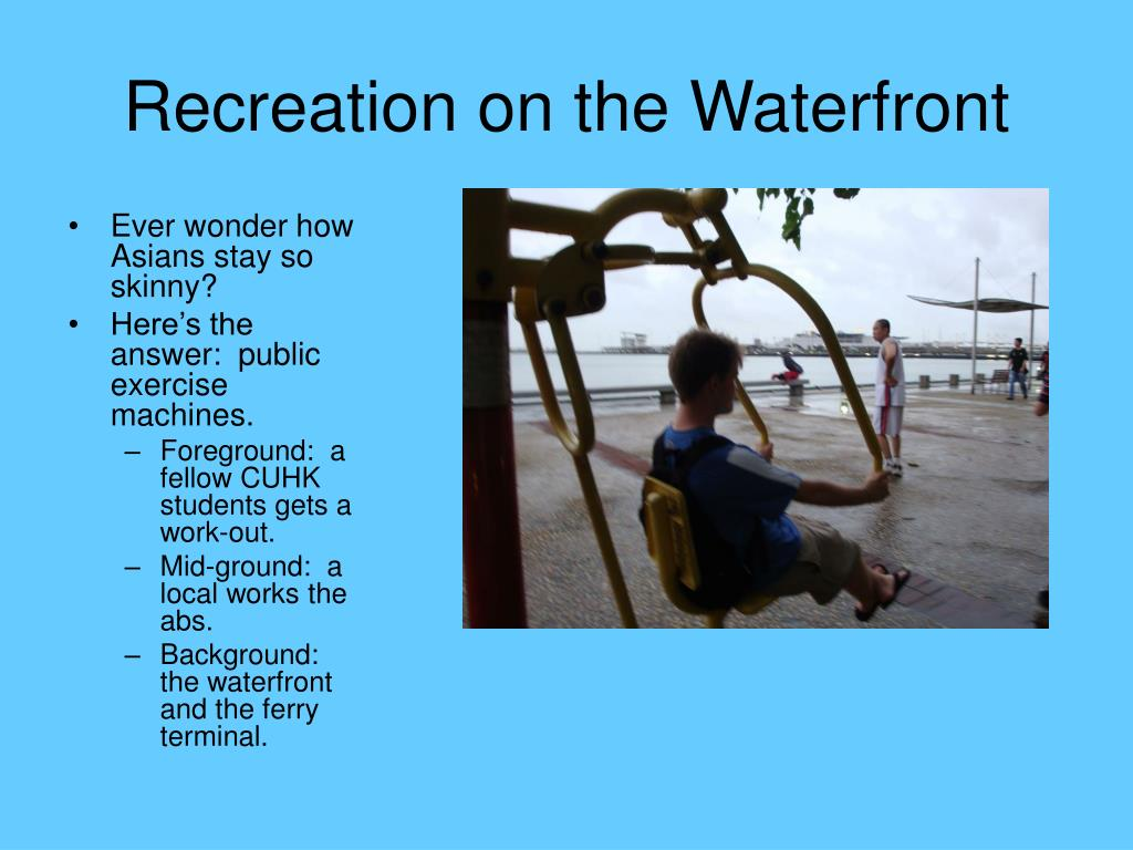 Recreation on the Waterfront
