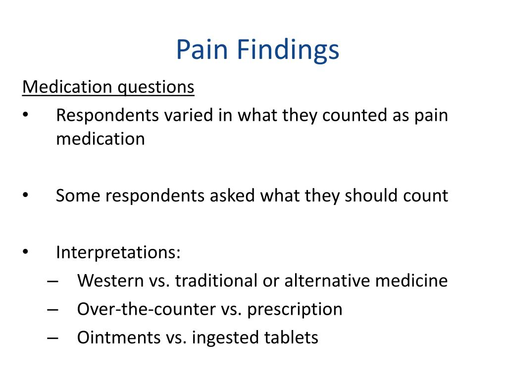 Pain Findings