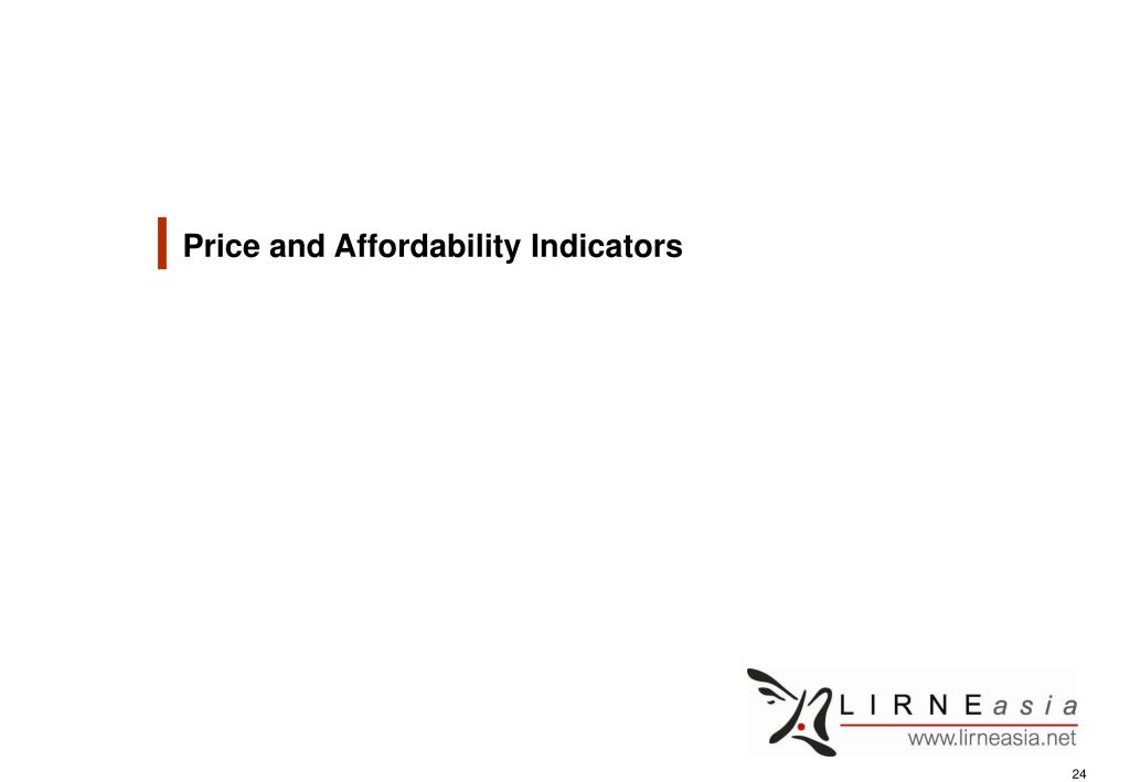Price and Affordability Indicators