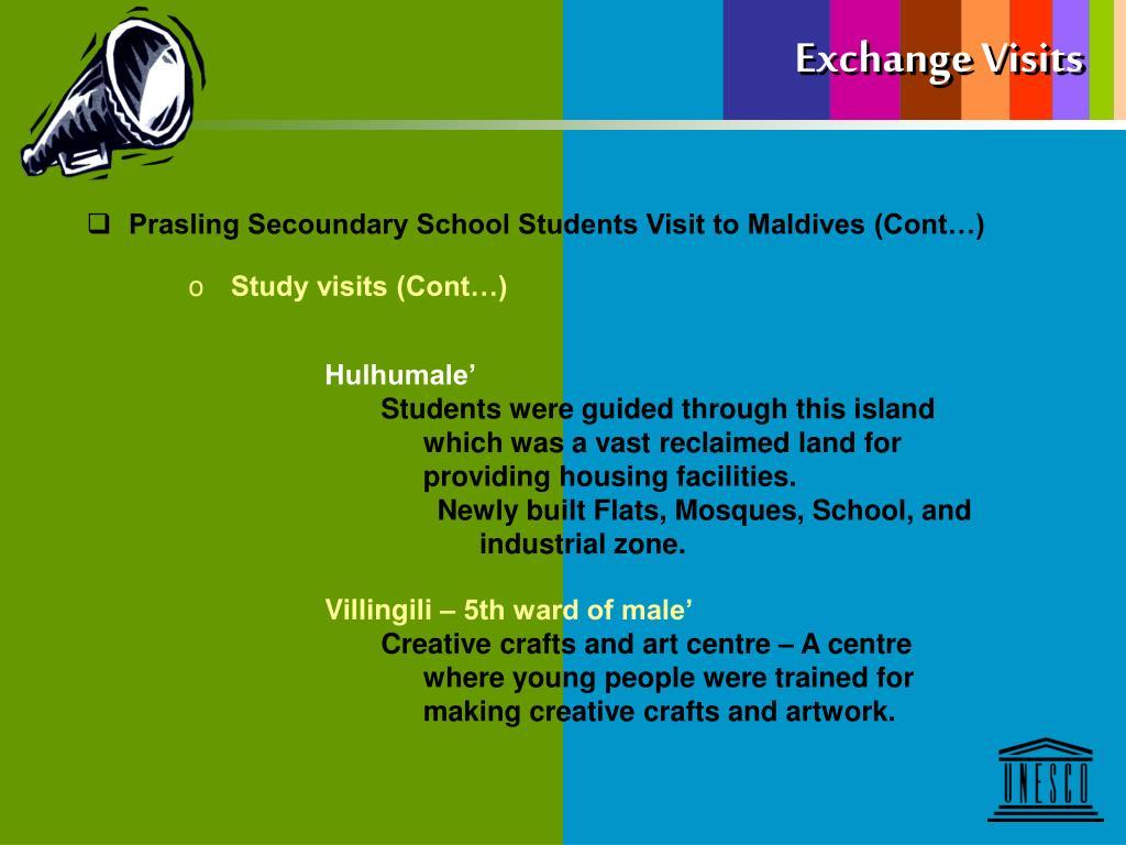 Exchange Visits