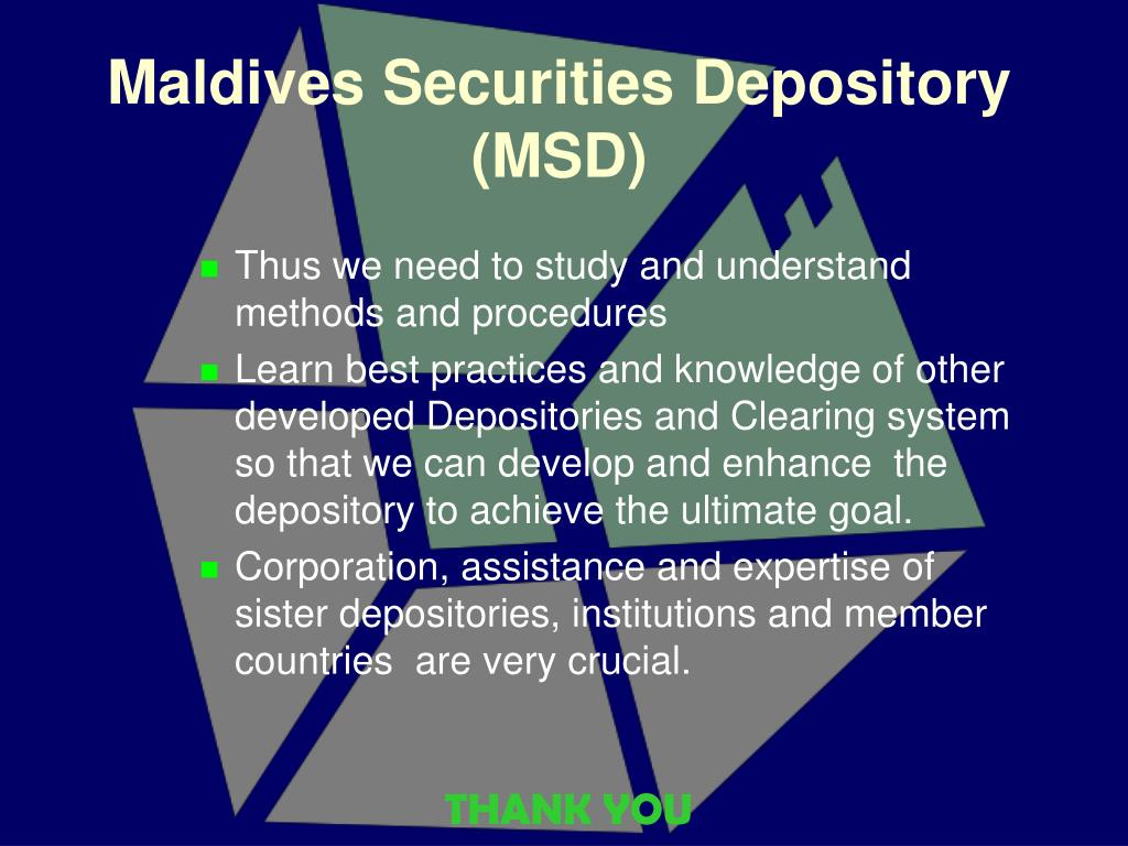 Maldives Securities Depository (MSD)