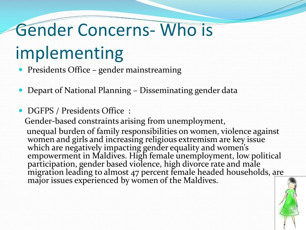 Gender Concerns- Who is implementing