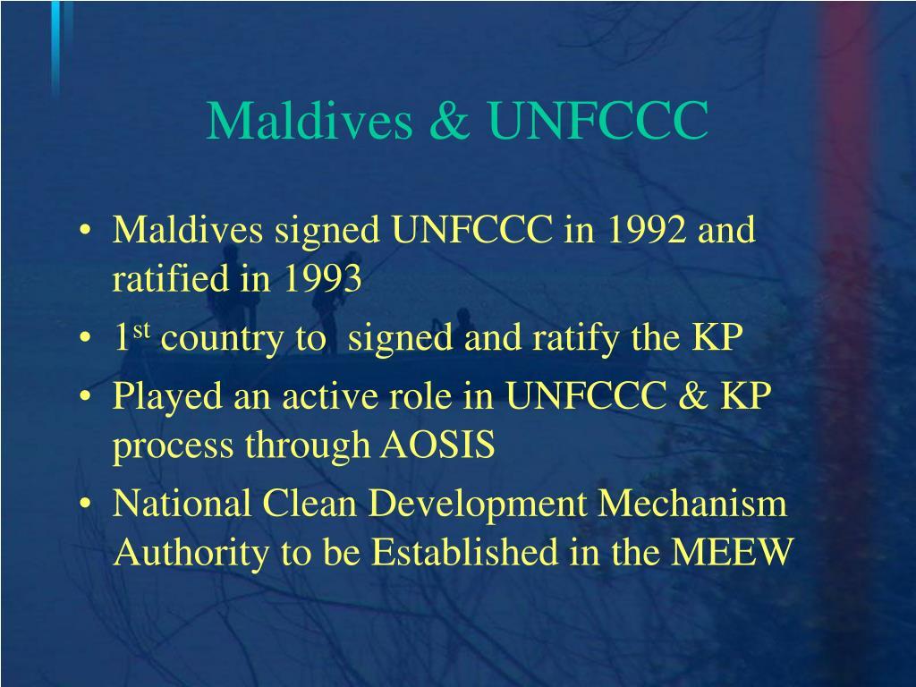 Maldives & UNFCCC