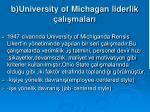 b university of michagan liderlik al malar