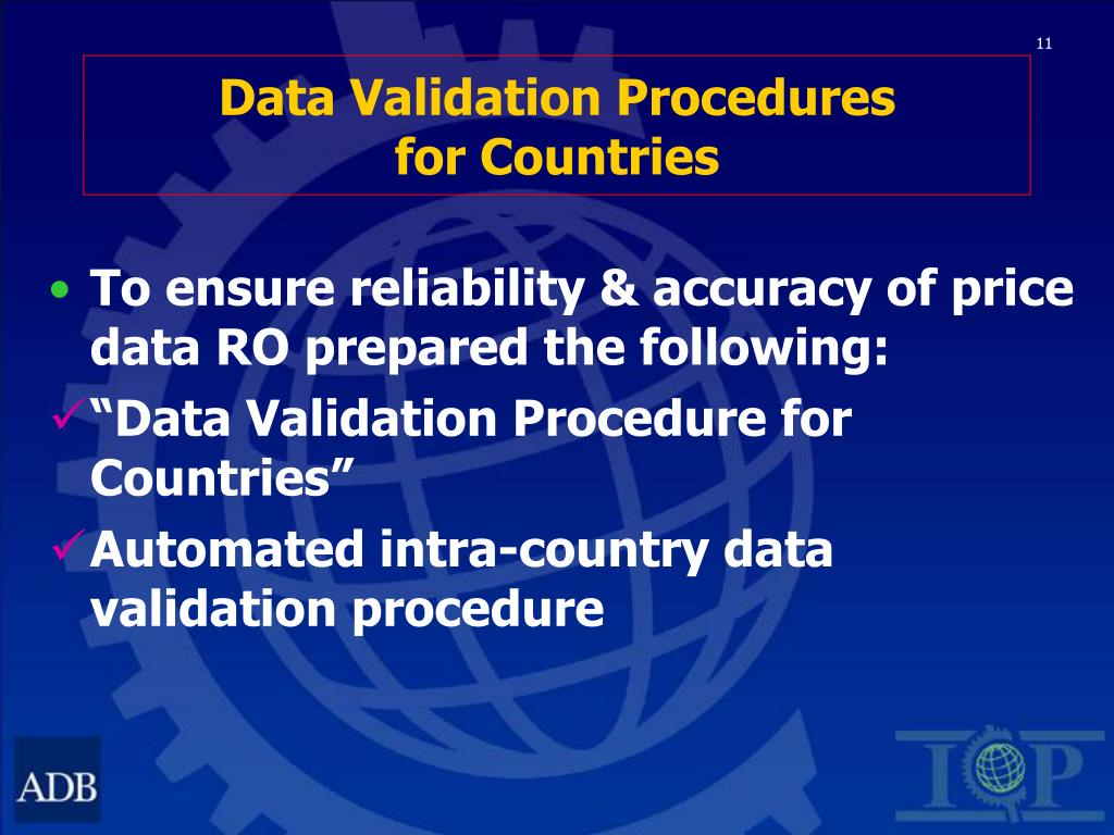 Data Validation Procedures