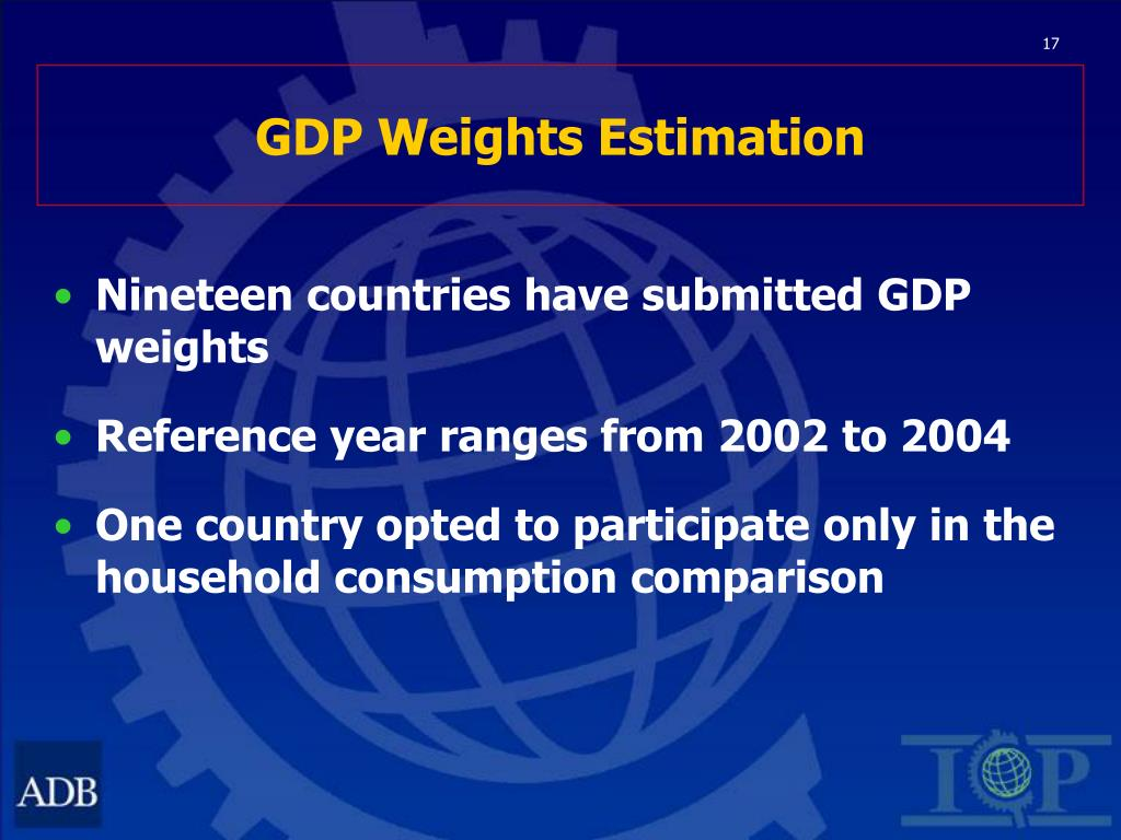 GDP Weights Estimation