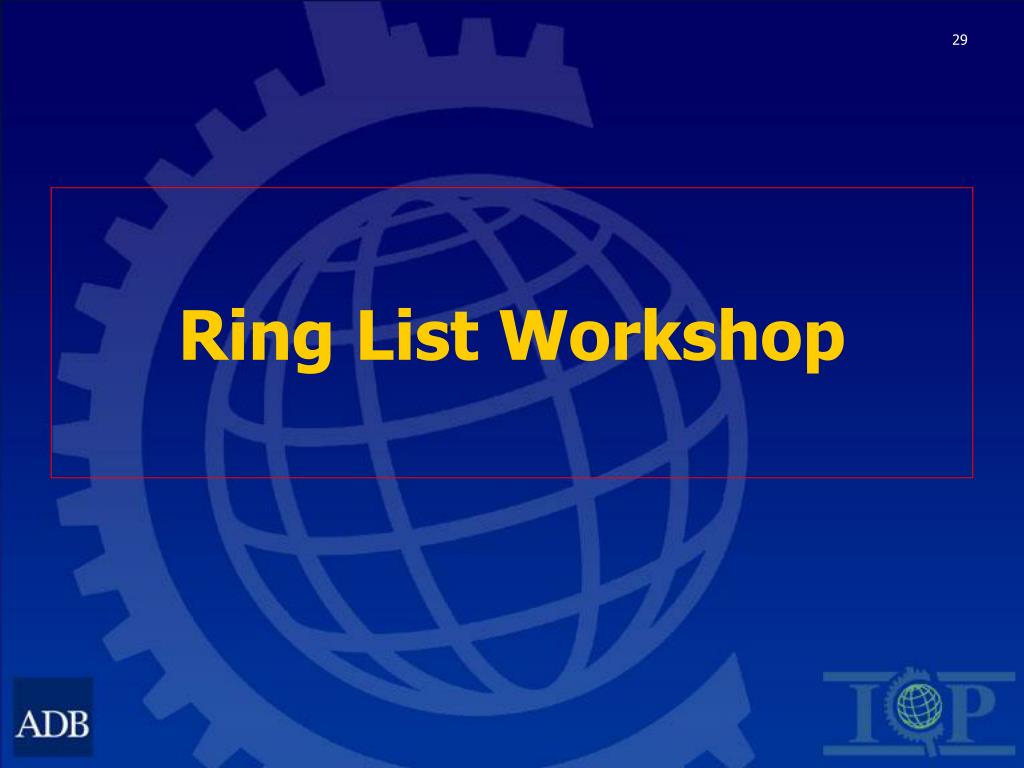 Ring List Workshop