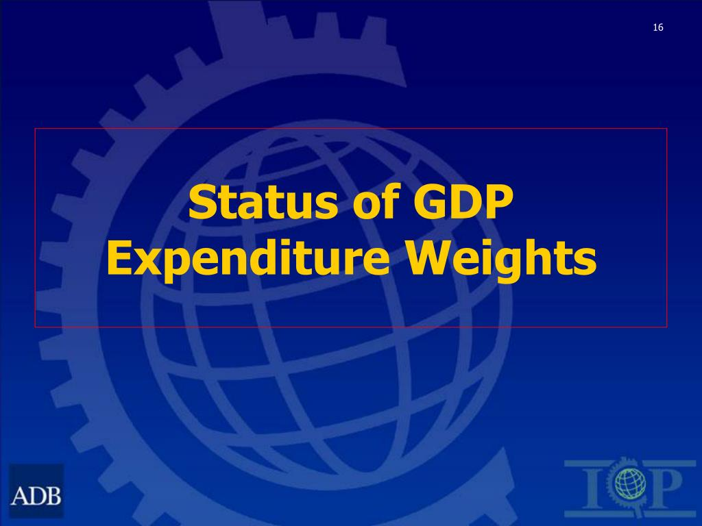 Status of GDP Expenditure Weights