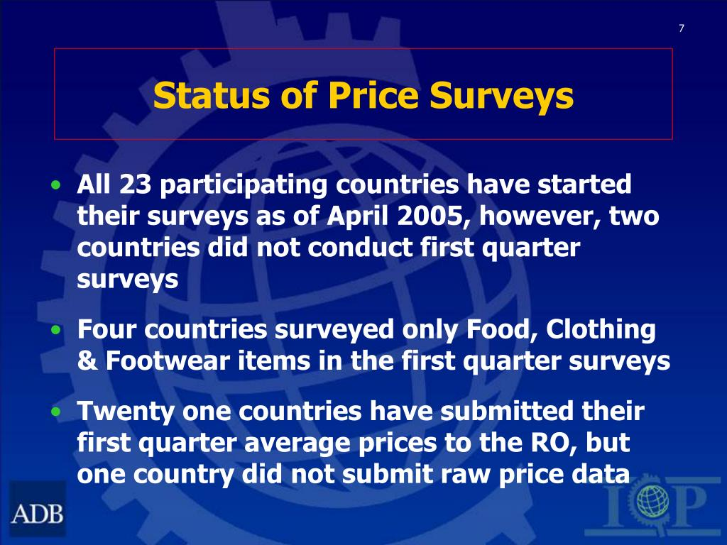 Status of Price Surveys