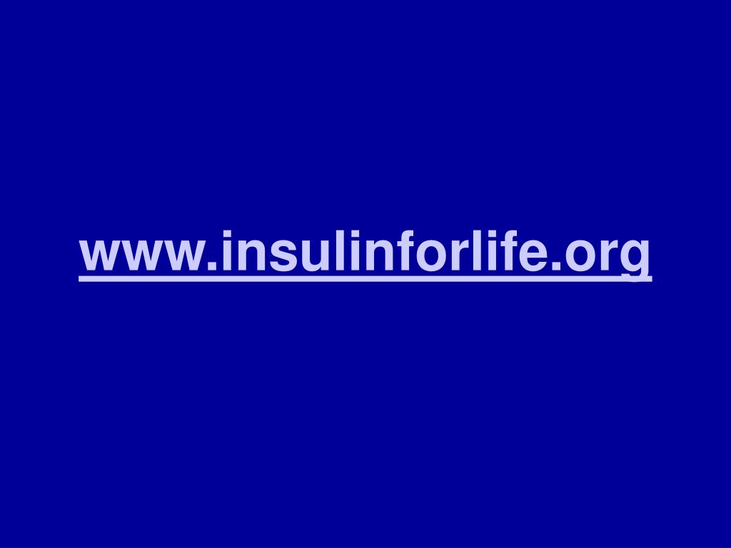 www.insulinforlife.org