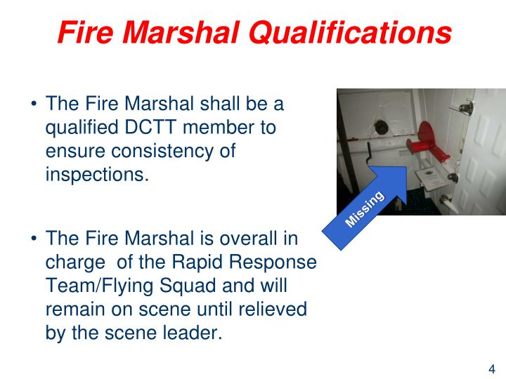 Fire Marshal Qualifications