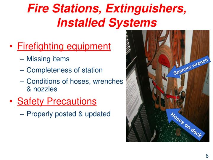 Fire Stations, Extinguishers, Installed Systems