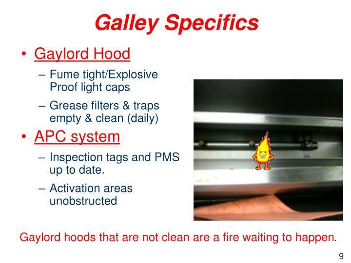 Galley Specifics