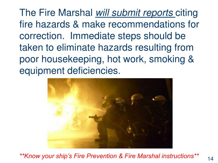 The Fire Marshal