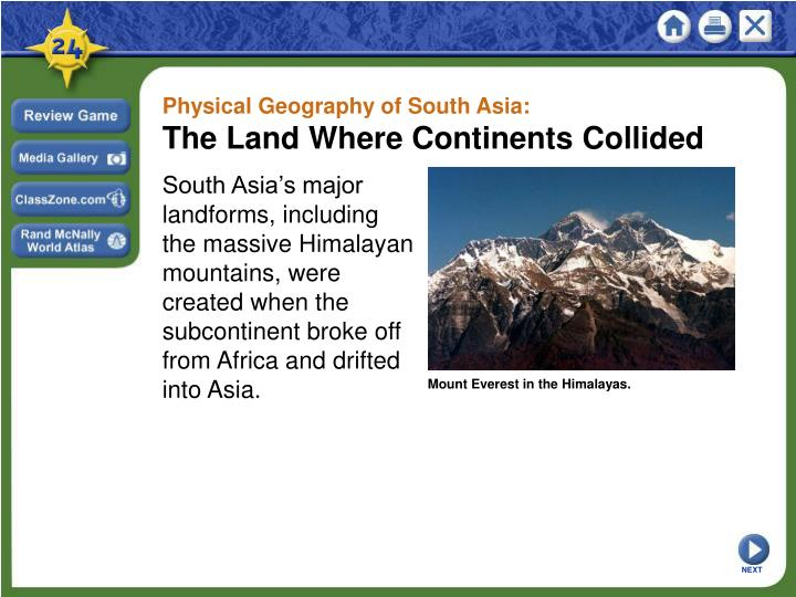 Physical Geography of South Asia: