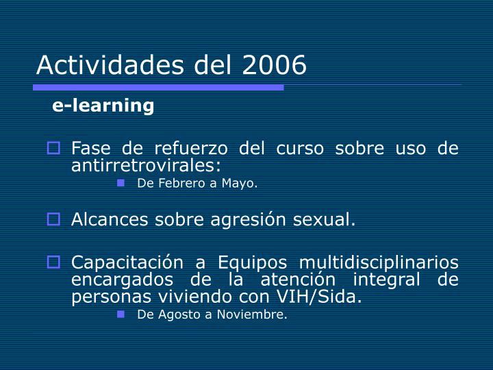 Actividades del 2006