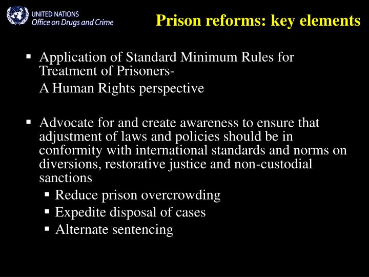 Prison reforms key elements l.jpg