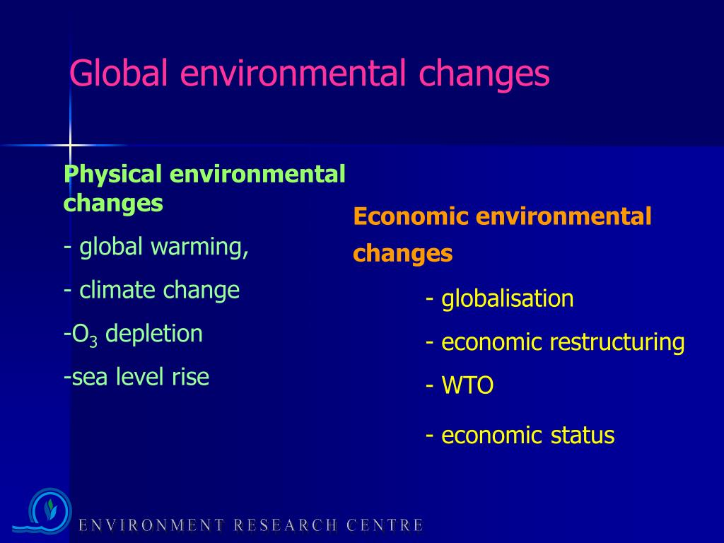 Global environmental changes