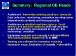 summary regional cb needs