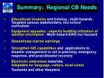 summary regional cb needs26