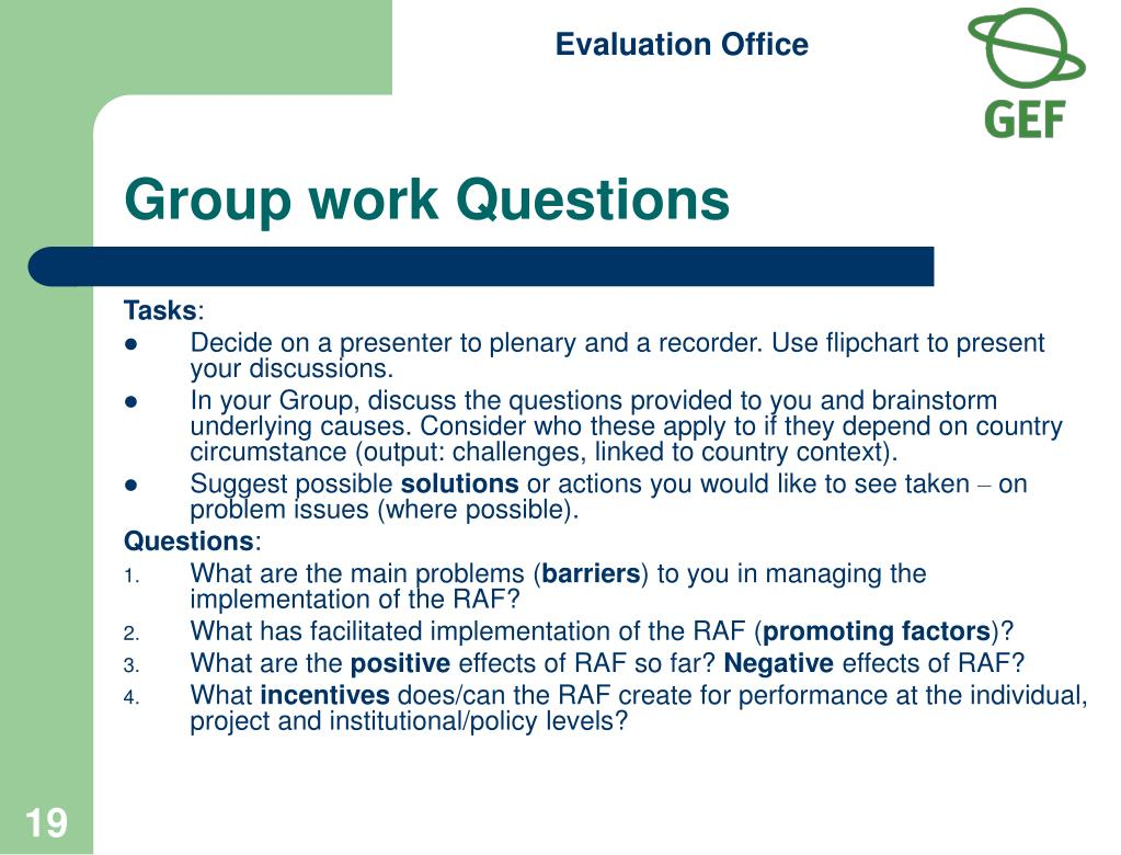 Group work Questions