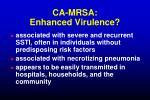 ca mrsa enhanced virulence