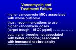 vancomycin and treatment failure
