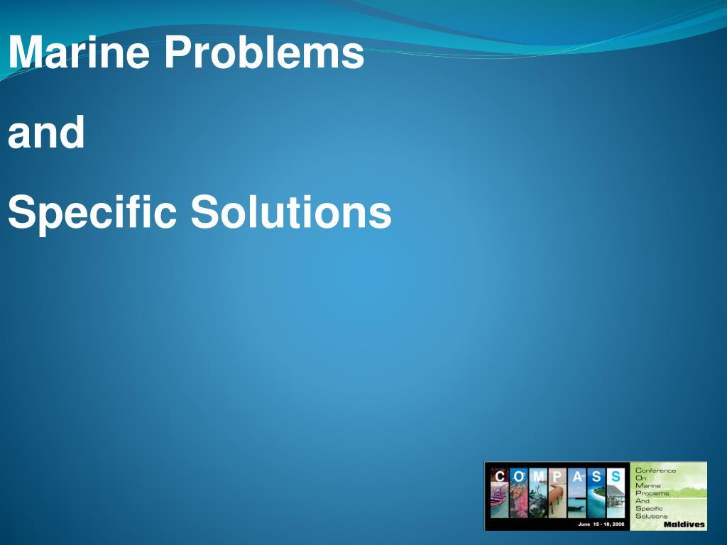 Marine Problems