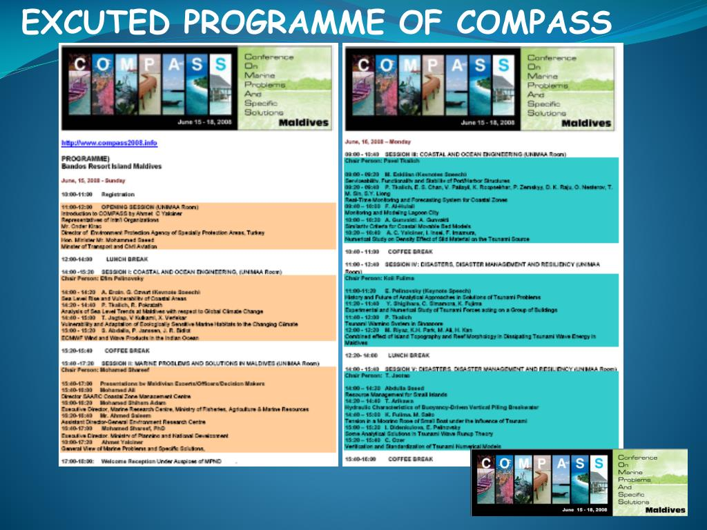 EXCUTED PROGRAMME OF COMPASS