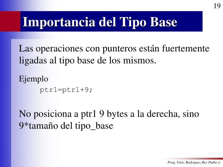 Importancia del Tipo Base