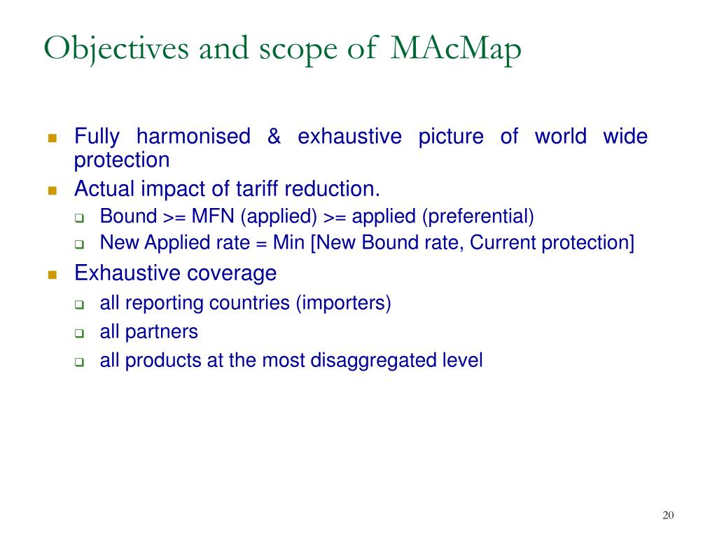 Objectives and scope of MAcMap