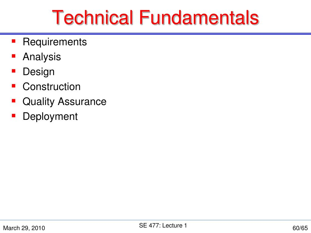Technical Fundamentals