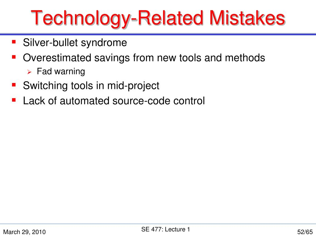 Technology-Related Mistakes