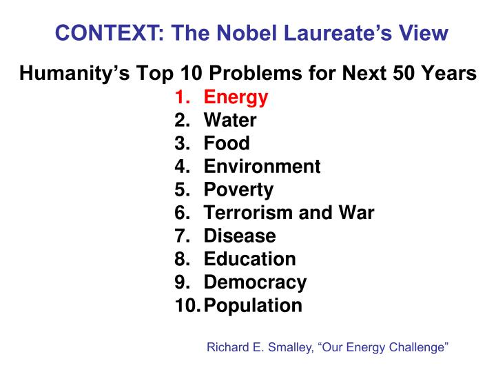 Humanity s top 10 problems for next 50 years