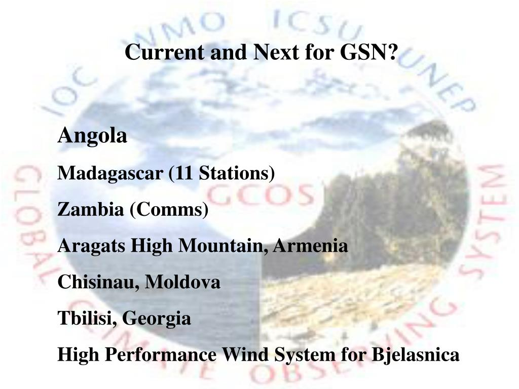 Current and Next for GSN?