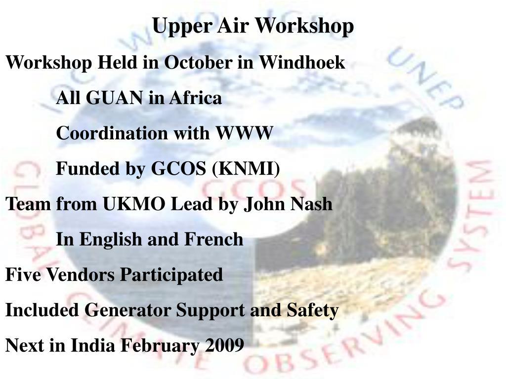 Upper Air Workshop