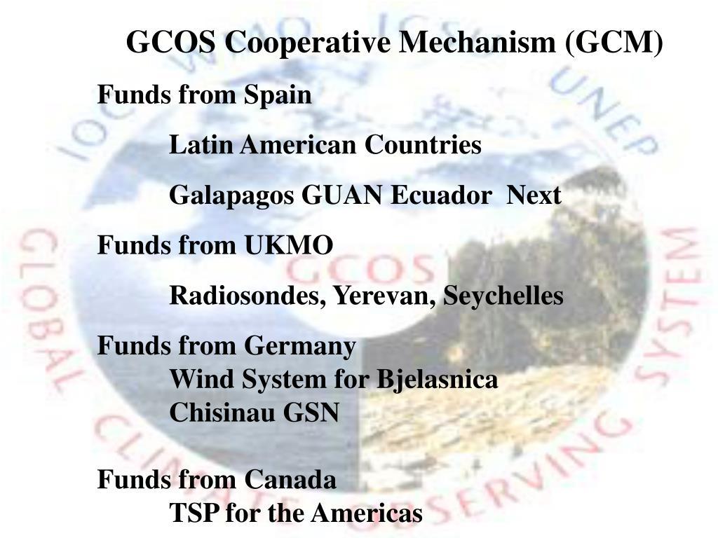 GCOS Cooperative Mechanism (GCM)