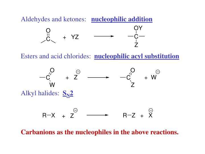 Aldehydes and ketones: