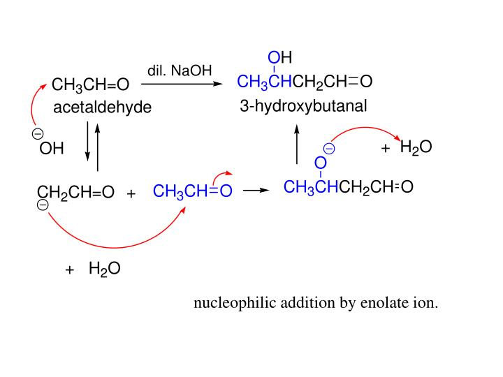 nucleophilic addition by enolate ion.