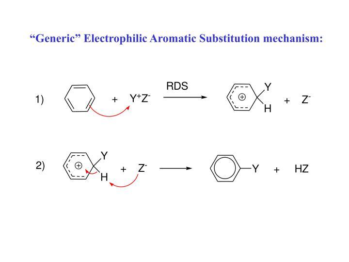 """Generic"" Electrophilic Aromatic Substitution mechanism:"