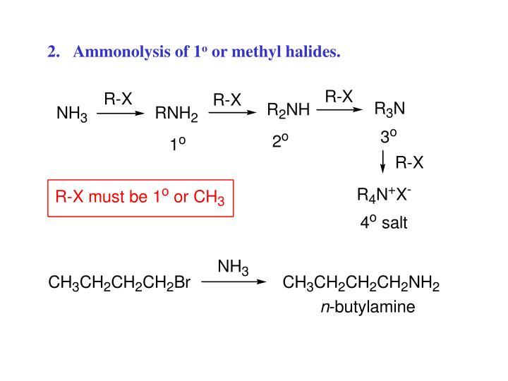 Ammonolysis of 1