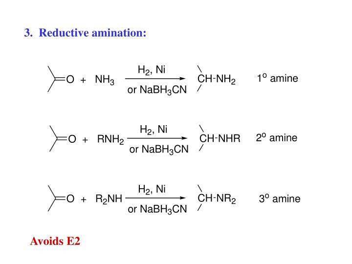 3.  Reductive amination: