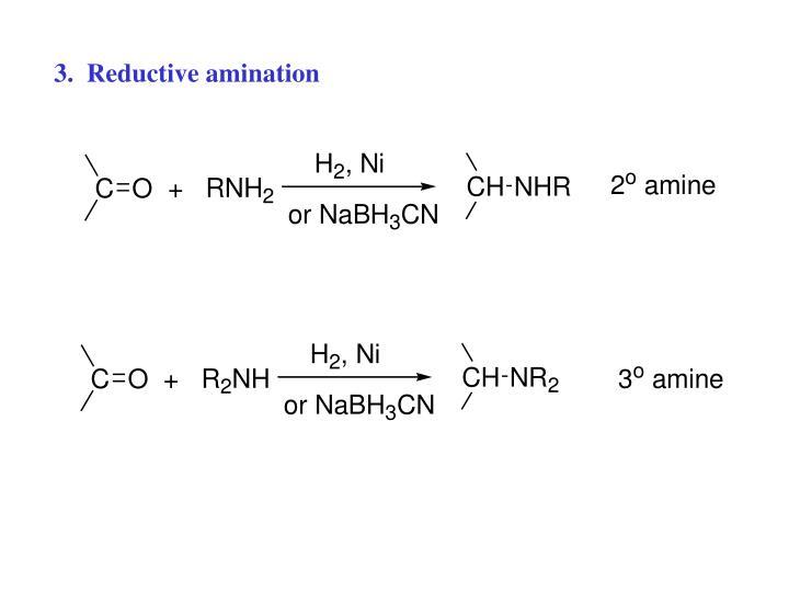 3.  Reductive amination