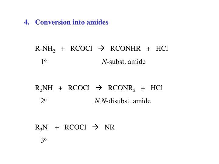Conversion into amides