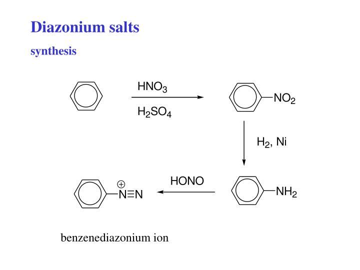 Diazonium salts