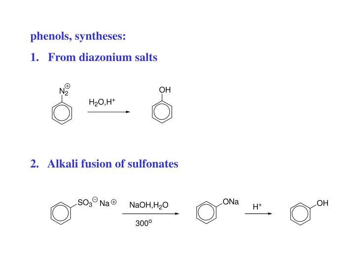 phenols, syntheses: