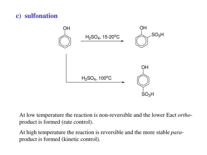 c)  sulfonation
