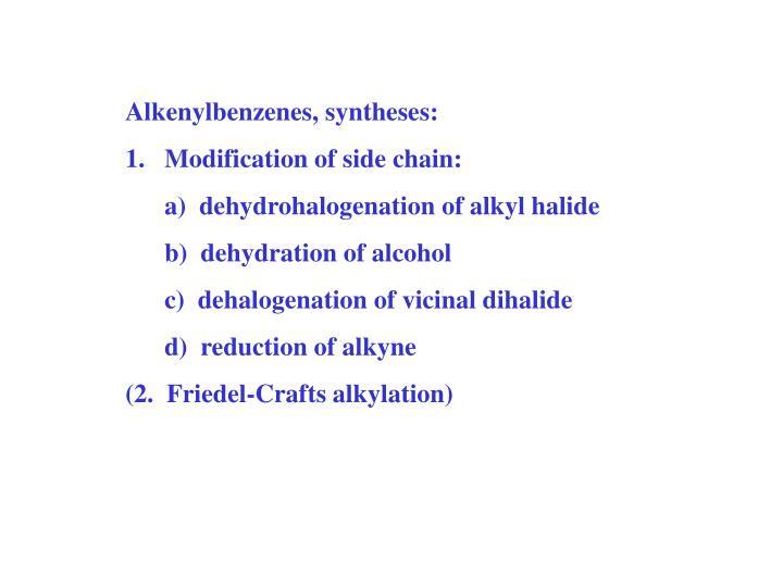 Alkenylbenzenes, syntheses: