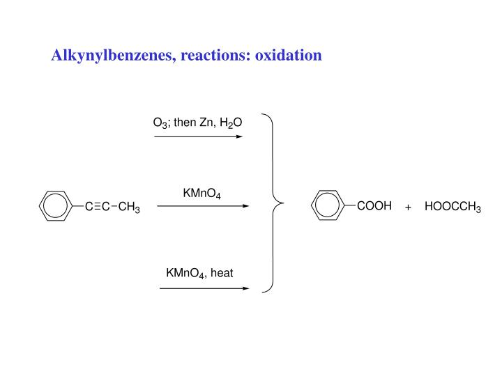 Alkynylbenzenes, reactions: oxidation